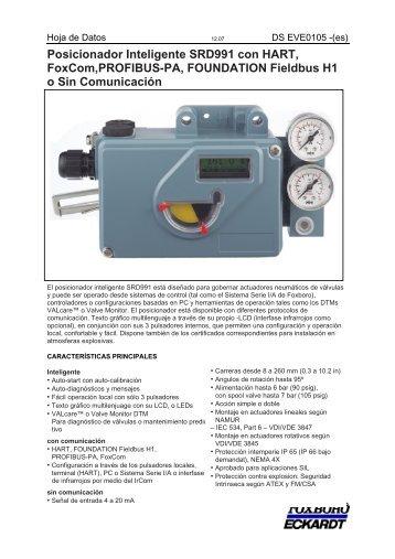 Posicionador Inteligente SRD991 con HART ... - Foxboro Eckardt