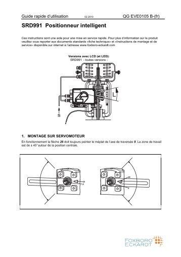 SRD991 Positionneur intelligent - Foxboro Eckardt