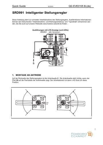 SRD991 Intelligenter Stellungsregler - FOXBORO ECKARDT