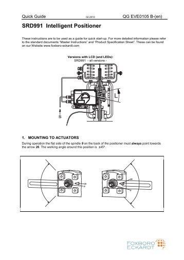 SRD991 Intelligent Positioner - FOXBORO ECKARDT