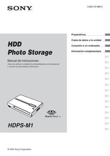 Sony HDPS-M1 - HDPS-M1 Istruzioni per l'uso Spagnolo