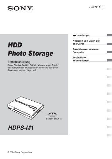 Sony HDPS-M1 - HDPS-M1 Istruzioni per l'uso Tedesco
