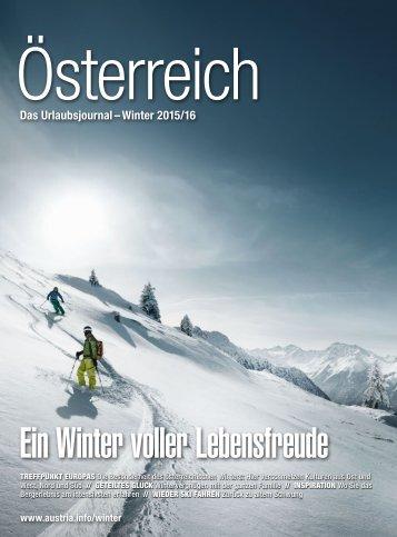Österreich - Das Urlaubsjournal Winter 2015/16 - Deutsch