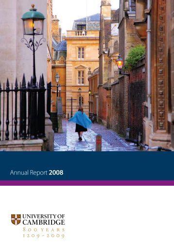 Annual Report 2008 - University of Cambridge