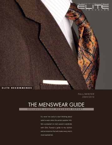 THE MENSWEAR GUIDE - Elite Traveler