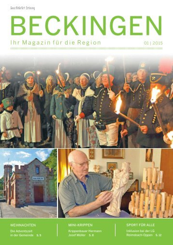 Gemeindemagazin Beckingen 01|2015
