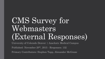 Webmasters (External Responses)