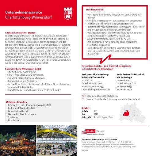 Unternehmensservice in den Berliner Bezirken