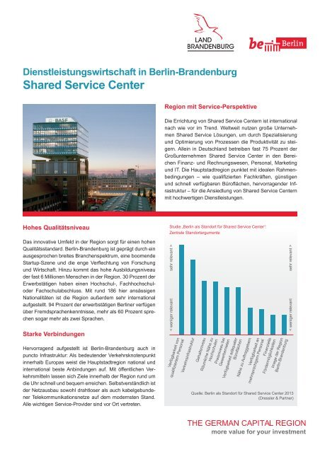 Shared Service Center in Berlin-Brandenburg