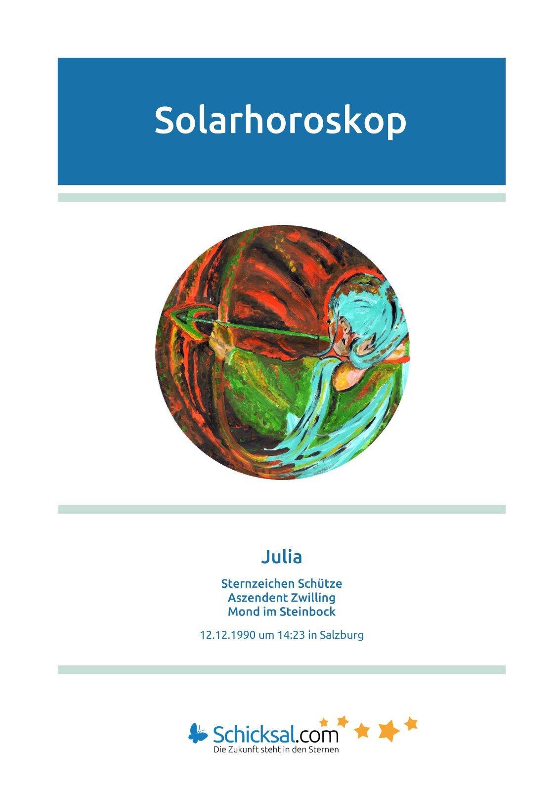 Schütze - Solarhoroskop