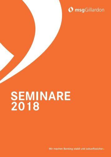 2018 | Seminarkatalog | Finanzen