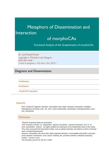 Metaphors of Dissemination and Interaction of morphoCAs