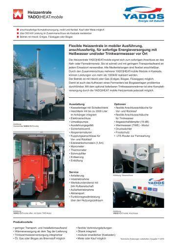 Mobile Heizzentrale YADO|CON