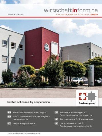 Wirtschaftsstandorte der Region | wirtschaftinform.de 12.2015