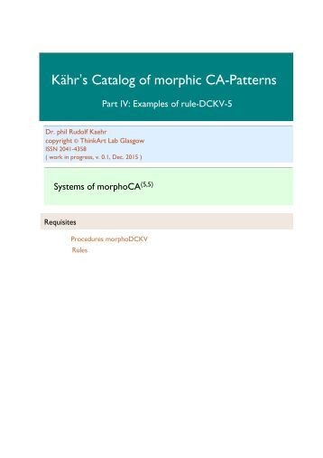 Kähr's Catalog, Part IV, morphoCA-(5,5)