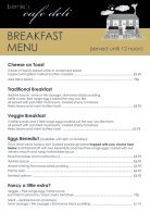 Bernie's Cafe Deli Breakfast Menu - Page 2