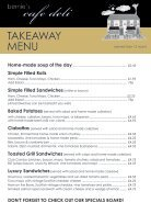 Bernies Cafe Deli Takeaway Menu - Page 2