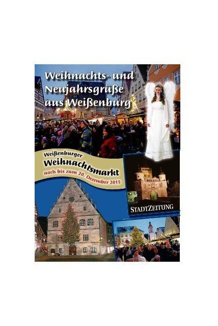 Weihnachts- und Neujahrsgrüße aus Weißenburg