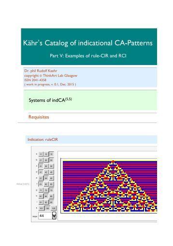 Kähr's Catalog, Part V, indCIR