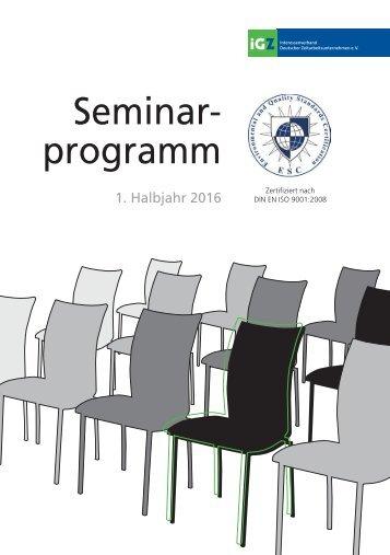 iGZ Seminarprogramm 01-2016