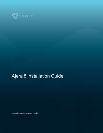 Ajera 8 Installation Guide