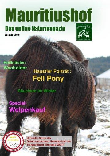 Mauritiushof Naturmagazin Jänner 2016