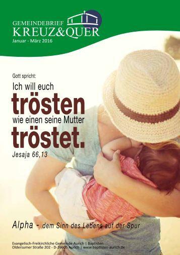 Gemeindebrief Kreuz&Quer Januar - März 2016