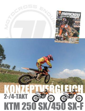 KONZEPTVERGLEICH  2-/4-TAKT KTM 250 SX/450 SX-F / 2016