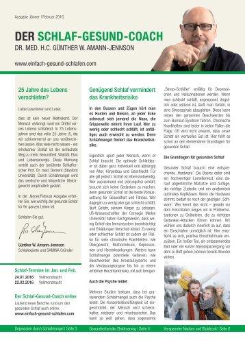DER SCHLAF-GESUND-COACH | Ausgabe Jänner, Februar