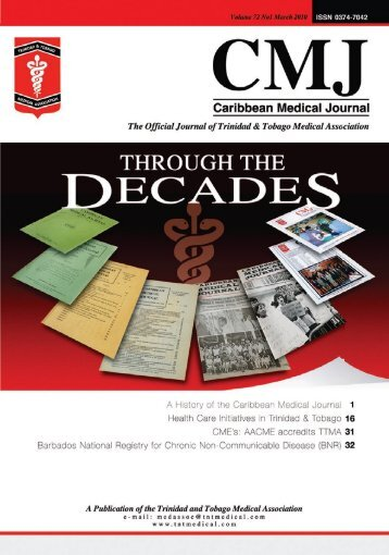 Official Journal Of The Trinidad & Tobago Medical - the Trinidad and ...