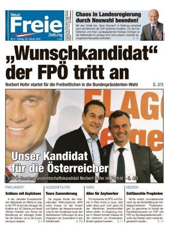 """""""Wunschkandidat"""" der FPÖ tritt an"""