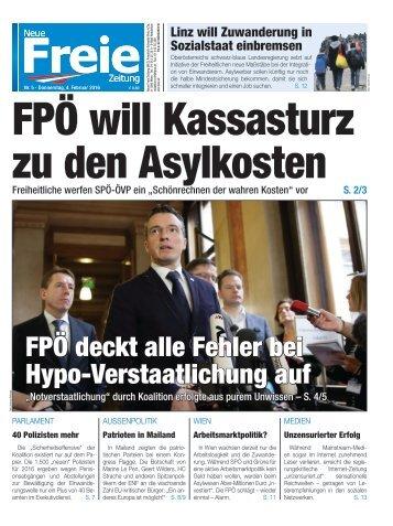 FPÖ will Kassasturz zu den Asylkosten