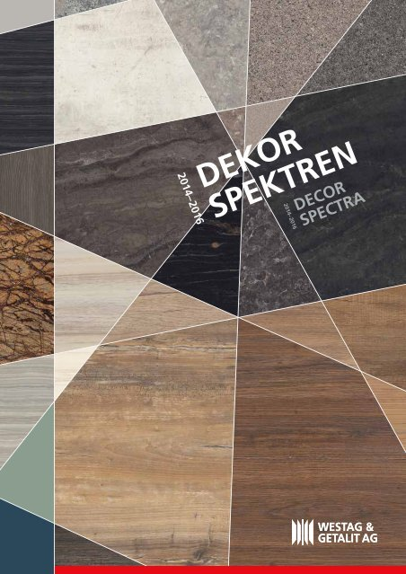 Westag & Getalit Dekorspektren Plattenwerkstoffe