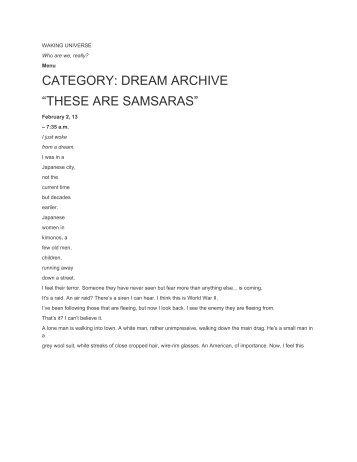 Dreams Samsaras