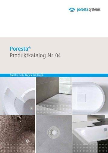 Poresta Produktkatalog SANITÄRTECHNIK