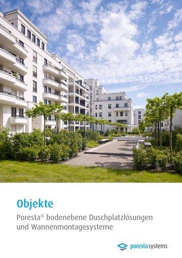 Poresta Objektbroschuere SANITÄRTECHNIK