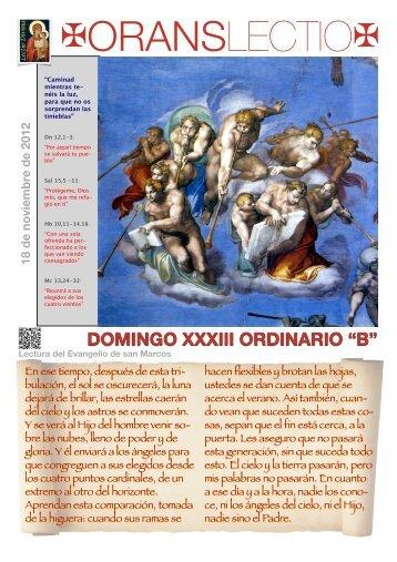 ol domingo xxxiii ordinario b pdf - Orans lectio