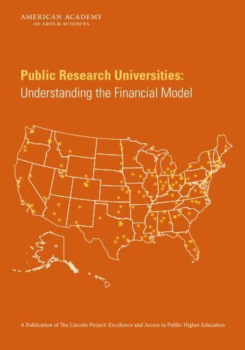 Public Research Universities Understanding the Financial Model