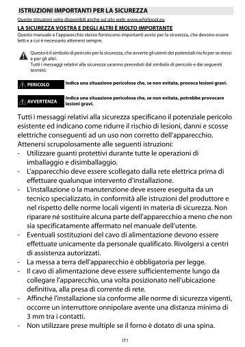 Forno Ariston Ft Istruzioni. Electrolux Eoc Aox Forno Elettrico Da ...
