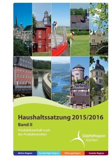 Band II b - Haushalt 2015-2016 nach der Produktstruktur