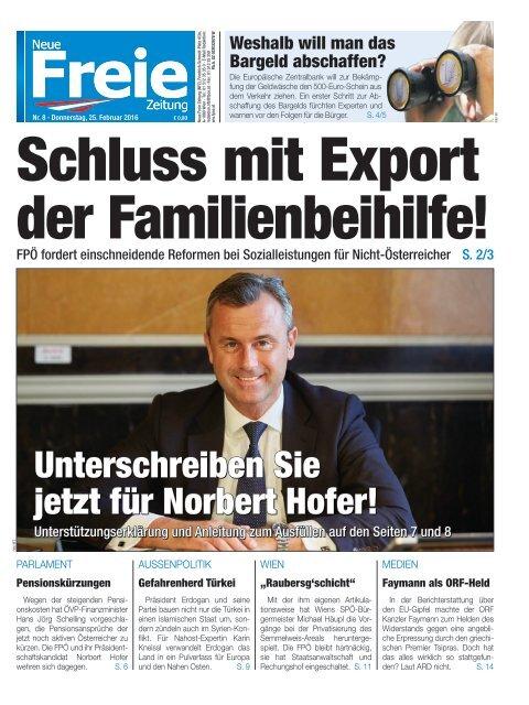 Schluss mit Export der Familienbeihilfe