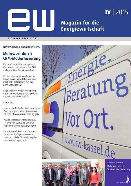 Städtische Werke AG, Referenzbericht, ew spezial IV-2015