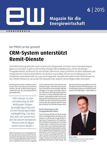 N-ERGIE, CRM-System unterstützt Remit-Dienste, Referenzbericht, ew 6-2015