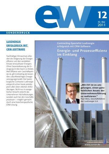 LuxEnergie, Energie- und Prozesseffizienz, Referenzbericht, ew 12-2011