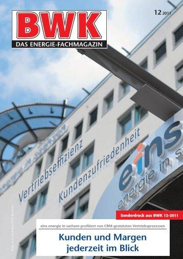 eins energie in sachsen, Referenzbericht, BWK 12-2011