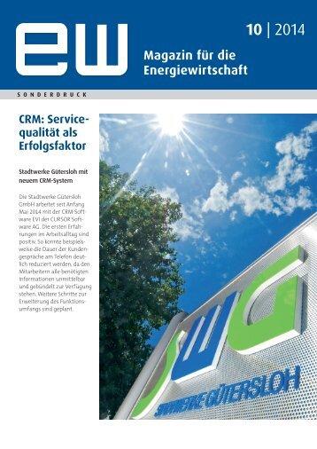 Stadtwerke Gütersloh GmbH, Servicequalität als Erfolgsfaktor, Referenzbericht, ew 10-2014