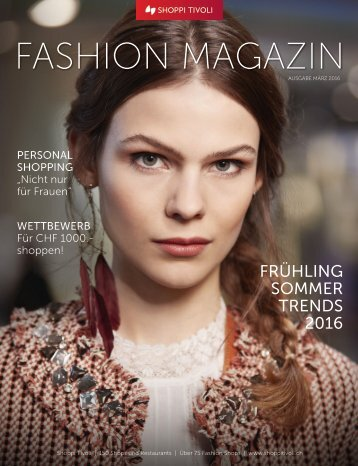 FASHION MAGAZIN Frühling 2016