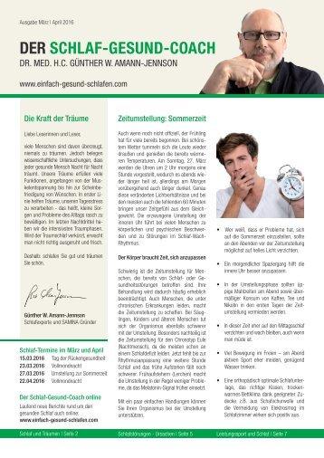 Der Schlaf-Gesund-Coach | März&April