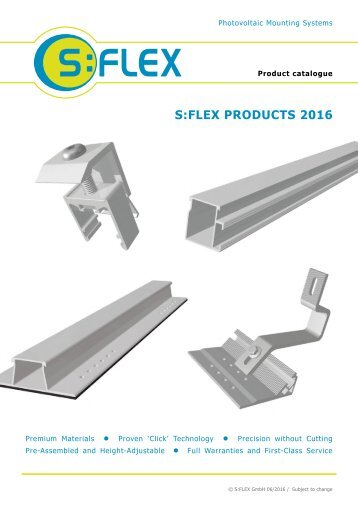 S:FLEX Product catalogue