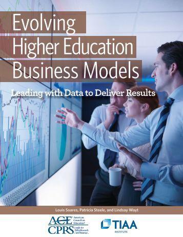 Evolving Higher Education Business Models